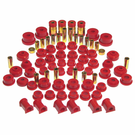 Prothane Motion Control Total Kit Red 95-99 Mitsubishi Eclipse, FWD/AWD