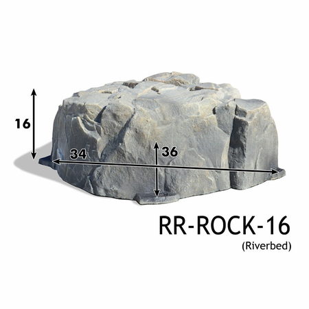 "Race Ramps 16"" Show Rock - Riverbed"
