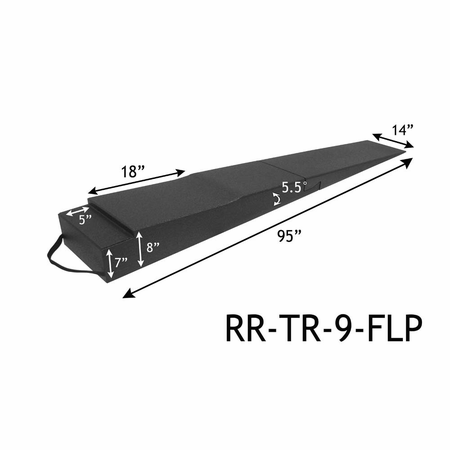 "Race Ramps 9"" Trailer Ramps w/ flap cutout"