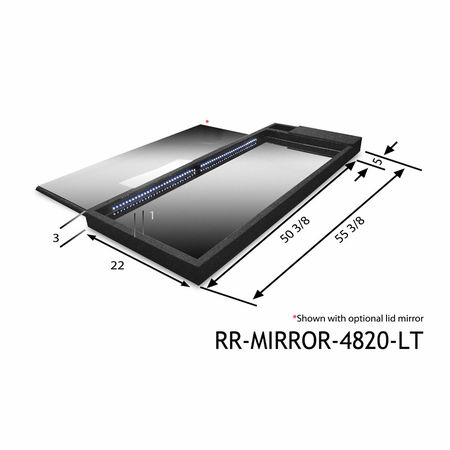 Race Ramps Lighted Show Mirror