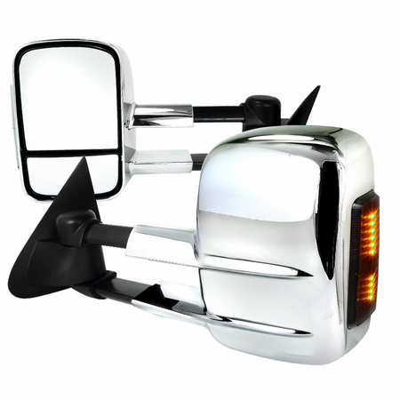 Spec-D 1997-2003 Ford F150 Regular/Super Cab Chrome LED Towing Mirrors (Power)
