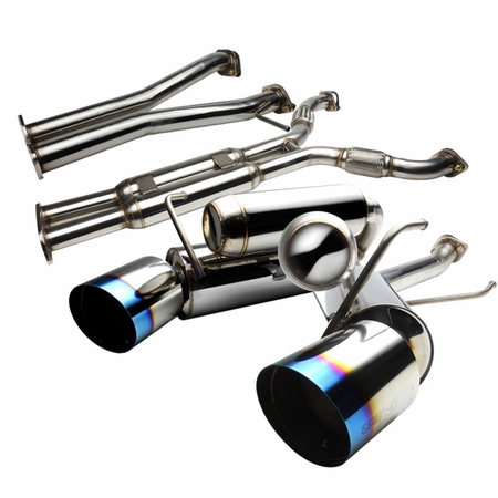 Spec-D 2003-2009 Nissan 350z N1-Style Catback Exhaust System with Burnt Tip