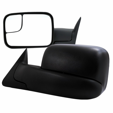 Spec-D 2005-2014 Toyota Tacoma Manual Adjustable Towing Mirror (Black)
