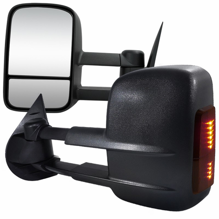 Spec-D 2007-2013 Chevy Silverado / GMC Sierra LED Extending Towing Mirrors (Power)