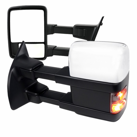 Spec-D 2008-2010 Ford F250 Super Duty LED Power Towing Mirrors with Exchangeable Caps