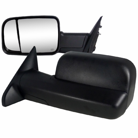 Spec-D 2009-2012 Dodge Ram 1500 Power Towing Mirrors w/Heat Function