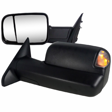 Spec-D 2010-2011 Dodge Ram 2500/3500 OE Type Power Towing Mirrors w/Turn Signals & Puddle Lights