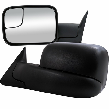Spec-D 94-97 Dodge Ram Towing Side Mirrors - Power