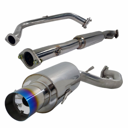 Spec-D 95-99 Mitsubishi Eclipse Burnt Tip Catback Exhaust - Turbo
