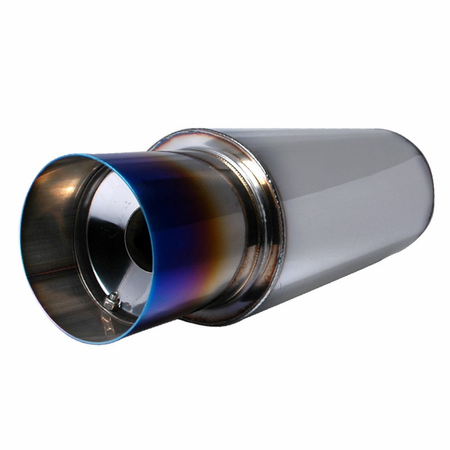 "Spec-D Apexi N1 Style Hi-Flow Muffler - 4"" Burned Tip"