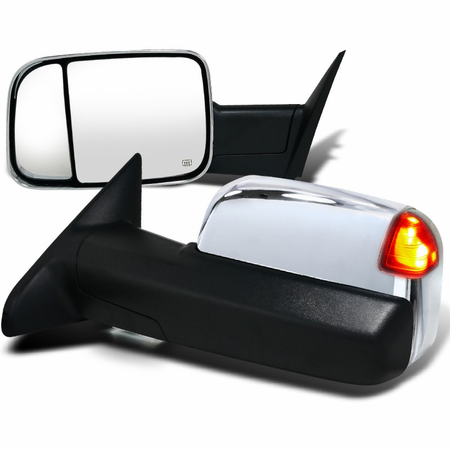 Spec-D Chrome Towing Mirrors (Power)