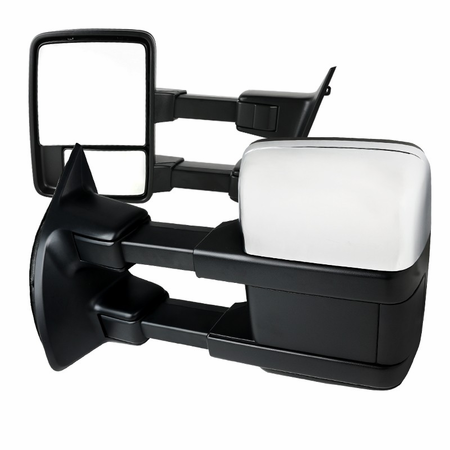 Spec-D For 2008-2016 Ford F250 / F350 / F450 / F550 Super Duty Power Towing Mirrors with Exchangeable Caps