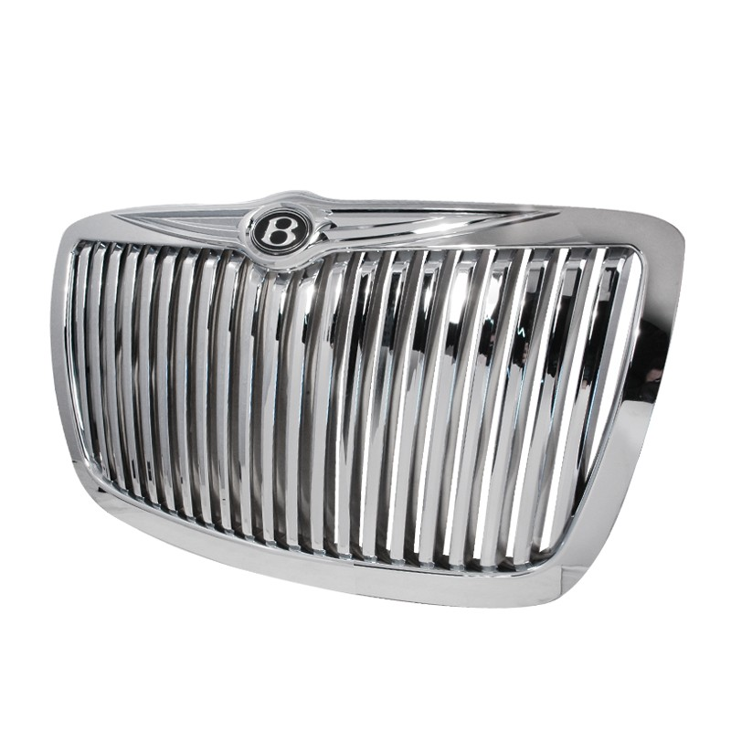 Spec-D 2005-2010 Chrysler 300 Vertical Grill (Chrome
