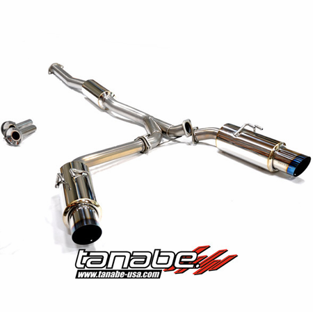 Tanabe Medalion Concept G Blue Exhaust System 08-13 Mitsubishi Lancer EVO10
