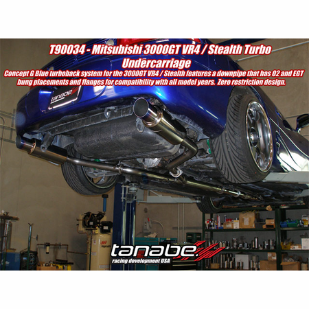 Tanabe Medalion Concept G Blue Exhaust System 90-99 Mitsubishi 3000GT