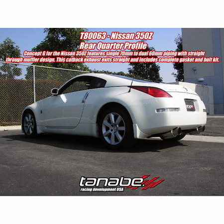 Tanabe Medalion Concept G Exhaust System 03-06 Nissan 350Z