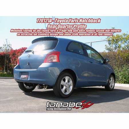 Tanabe Medalion Touring Exhaust System 07-11 Toyota Yaris Hatchback