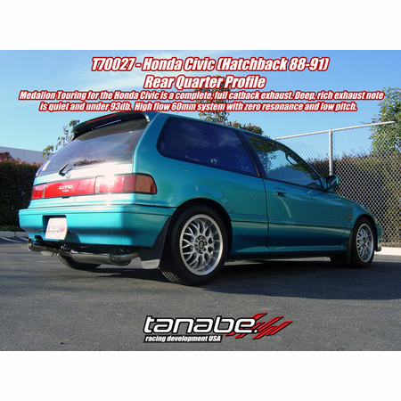 Tanabe Medalion Touring Exhaust System 88-91 Honda Civic Hatchback