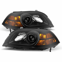 Xtune Acura MDX 2004-2006 Crystal Headlights - Black