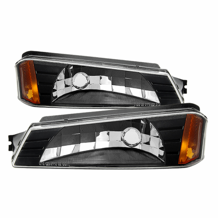 Xtune Chevy  Avalanche 1500 2002 /03-05 Avalanche 1500 with Lower Body Cladding only /02-05 Avalanche 2500 OEM Bumper -Black