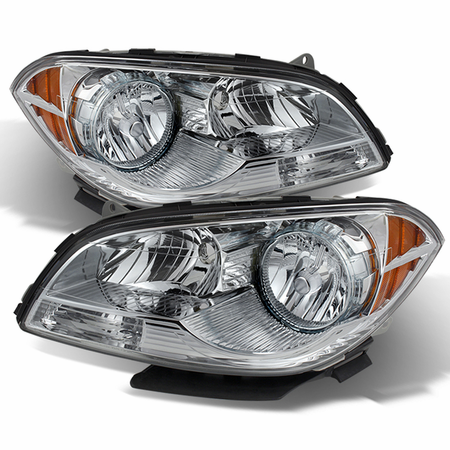 Xtune Chevy Malibu 2008-2012 Crystal Headlights - Chrome