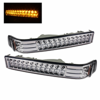 Xtune Chevy S10 / Blazer 98-03 LED Amber Bumper Lights - Chrome