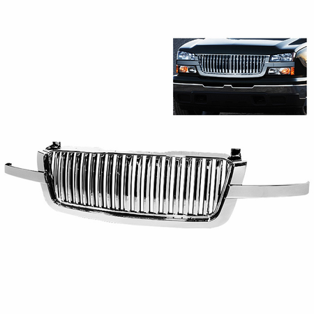 Xtune Chevy Silverado 03-06 3 PCS Front Grille - Chrome