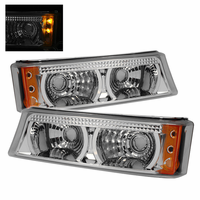 Xtune Chevy Silverado 03-06 Amber Bumper Lights - Chrome