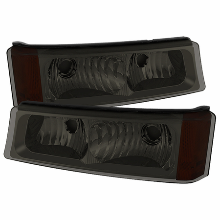 Xtune Chevy Silverado 03-06 / Avalanche 02-06 ( Don't fit with Body Cladding Model )  Bumper Lights - Smoke