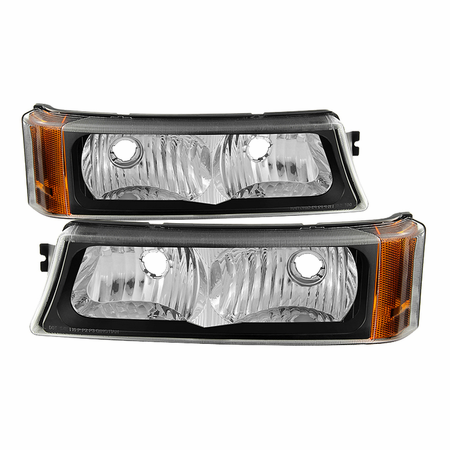 Xtune Chevy Silverado 03-06 / Avalanche 02-06 ( Don't fit with Body Cladding Model ) LED Bumper Lights - Black