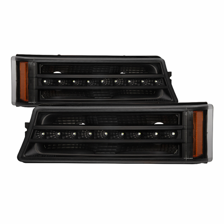 Xtune Chevy Silverado 03-06 / Avalanche 02-06 (don't fit with Body Cladding Models) LED Bumper Lights - Black