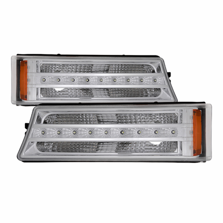 Xtune Chevy Silverado 03-06 / Avalanche 02-06 (don't fit with Body Cladding Models) LED Bumper Lights - Chrome