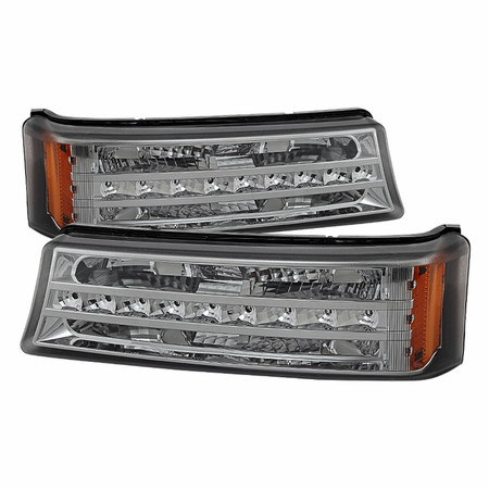 Xtune Chevy Silverado 03-06 / Avalanche 02-06 (don't fit with Body Cladding Models) LED Bumper Lights - Smoke