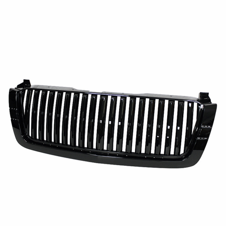 Xtune Chevy Silverado 03-06 Center Only ( Require HD-YD-CS03-1PC Headlight ) Front Grille - Black