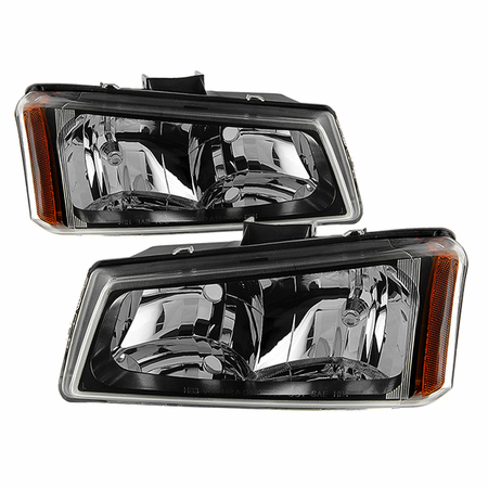Xtune Chevy Silverado 1500/2500/3500 03-06 / Chevy Silverado 1500HD 03-07 / Chevy Silverado 2500HD 03-06 Crystal Headlights - Black