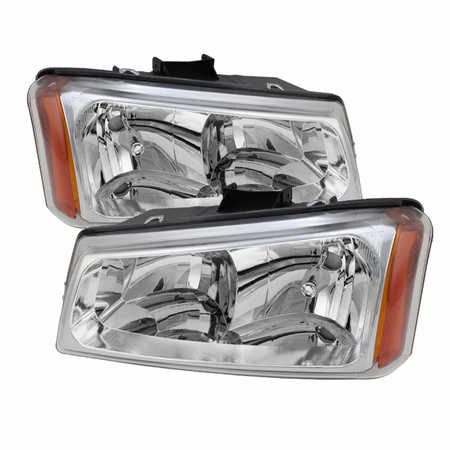 Xtune Chevy Silverado 1500/2500/3500 03-06 / Chevy Silverado 1500HD 03-07 / Chevy Silverado 2500HD 03-06 Crystal Headlights - Chrome