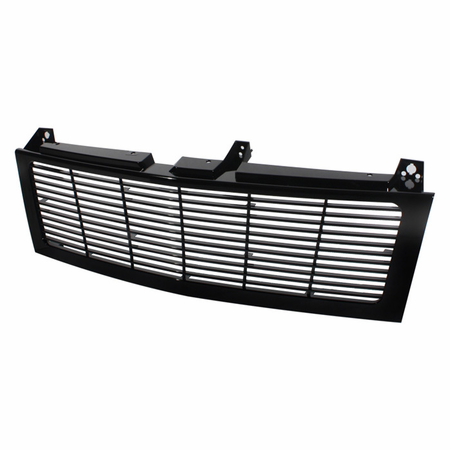 Xtune Chevy Silverado 1500/2500/3500 99-02 ( Does Not Fit HD Model ) / Chevy Suburban 1500/2500 00-06 / Chevy Tahoe 00-06 Center Only ( Require HD-YD-CS99-1PC Headlight ) Horizontal Front Grille - Black