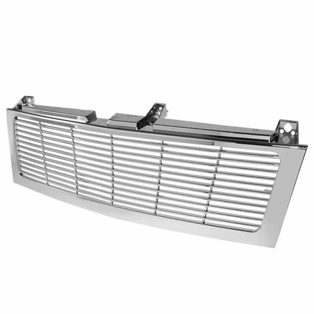 Xtune Chevy Silverado 1500/2500/3500 99-02 ( Does Not Fit HD Model ) / Chevy Suburban 1500/2500 00-06 / Chevy Tahoe 00-06 Center Only ( Require HD-YD-CS99-1PC Headlight ) Horizontal Front Grille - Chrome