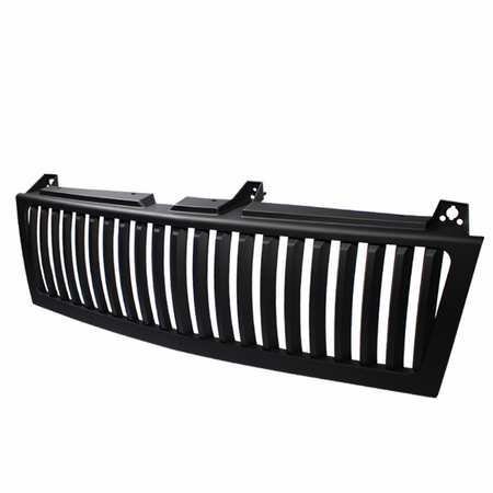 Xtune Chevy Silverado 1500/2500/3500 99-02 ( Does Not Fit HD Model ) / Chevy Suburban 1500/2500 00-06 / Chevy Tahoe 00-06 Center Only ( Require HD-YD-CS99-1PC Headlight ) Vertical Front Grille - Black