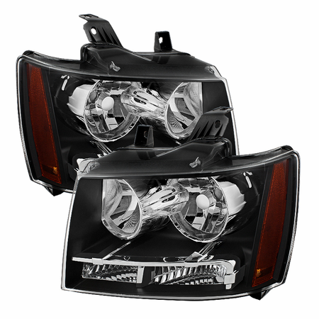 Xtune Chevy Suburban 1500/2500 07-14 / Chevy Tahoe 07-14 / Avalanche 07-14 Crystal Headlights - Black
