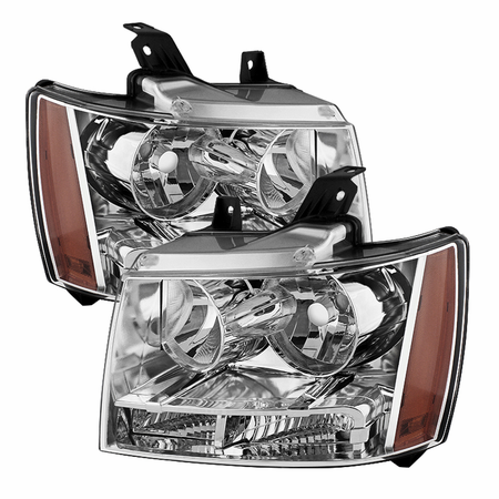 Xtune Chevy Suburban 1500/2500 07-14 / Chevy Tahoe 07-14 / Avalanche 07-14 Crystal Headlights - Chrome