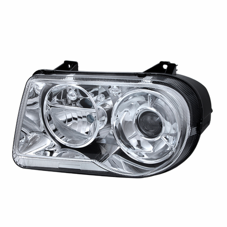 Xtune Chrysler 300C with Halogen Projection Style only 05-10 (Does Not Fit 300 or SRT-8 Models that use either Non Projection Halogen or HID Xenon Version) Headlights - Left