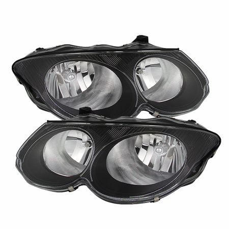 Xtune Chrysler 300M 1999-2004 (don't fit HID model) Crystal Headlights - Black