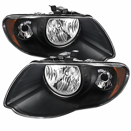 Xtune Chrysler Town & Country 05-07 (with Long Wheel Base Models) Crystal Headlights - Black