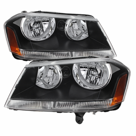 Xtune Dodge Avenger 08-14 Crystal Headlights - Black