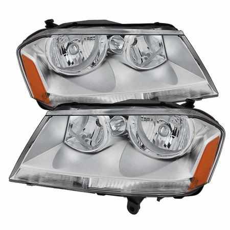 Xtune Dodge Avenger 08-14 Crystal Headlights - Chrome