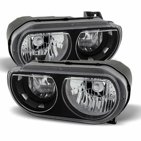 Xtune Dodge Challenger 08-13 Halogen Only (does not fit HID model) Headlights Black