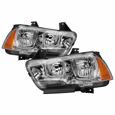 Xtune Dodge Charger 2011-2014 Halogen Only (Does Not Fit HID Model) Headlights - Chrome