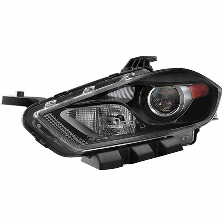 Xtune Dodge Dart 13-15 Halogen Only (Don't Fit HID models ) Driver Side Projector Headlight -OEM Left - Black