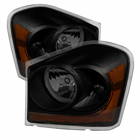 Xtune Dodge Durango 04-05 OEM Headlamps - Black Smoked